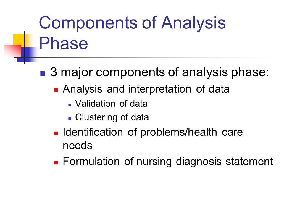 Components of Analysis Phase