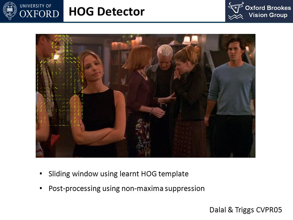 HOG Detector Sliding window using learnt HOG template