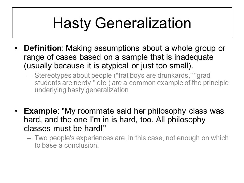 Hasty generalization in the crucible by liam bradford on prezi.