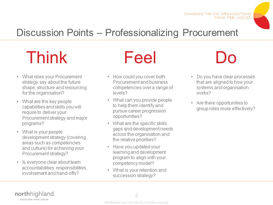 Discussion Points – Professionalizing Procurement