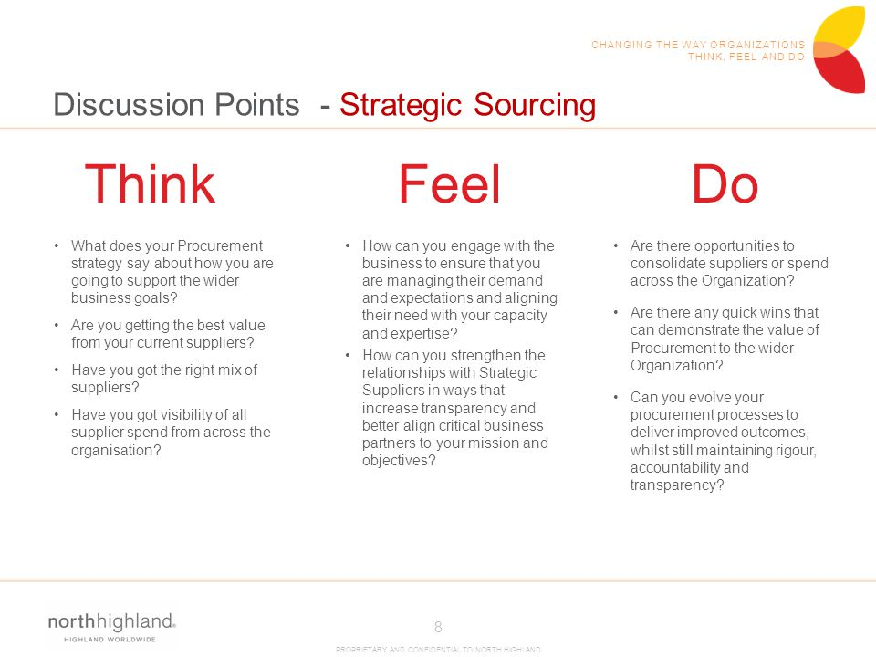 Discussion Points - Strategic Sourcing