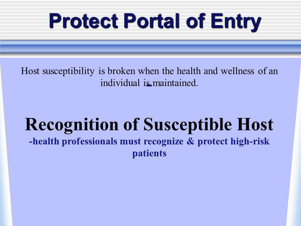 Protect Portal of Entry