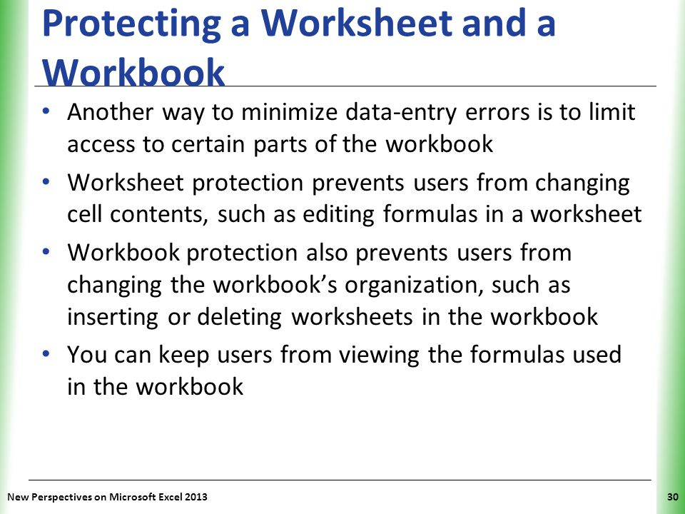 Tutorial 7 Developing An Excel Application Ppt Video Online Download. Protecting A Worksheet And Workbook. Worksheet. Excel Worksheet Limit 2013 At Mspartners.co