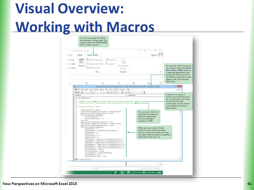Visual Overview: Working with Macros