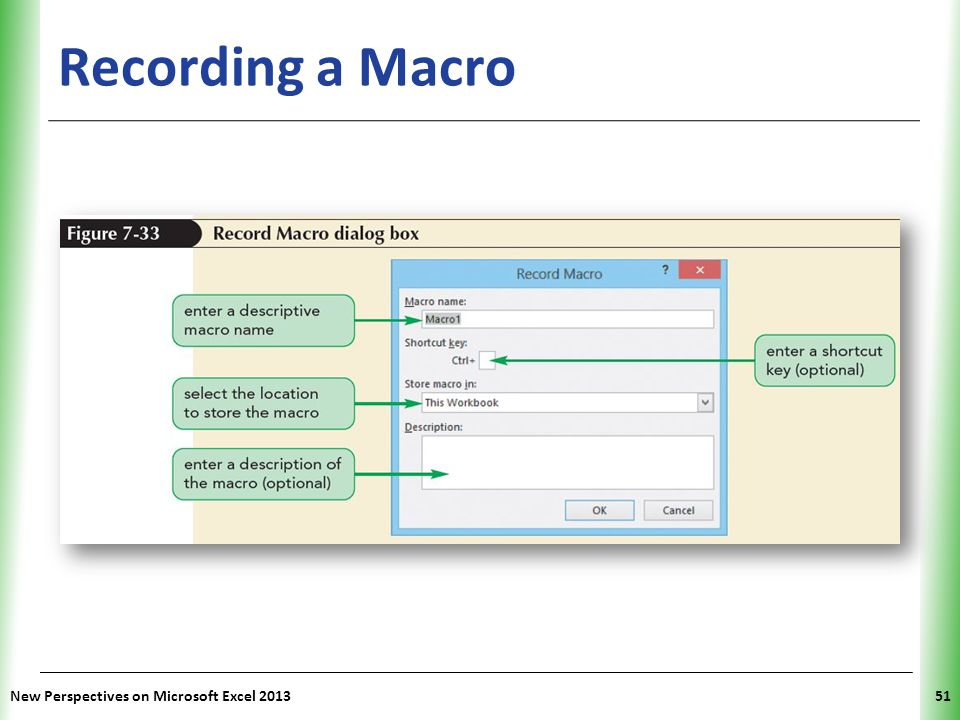 Recording a Macro New Perspectives on Microsoft Excel 2013