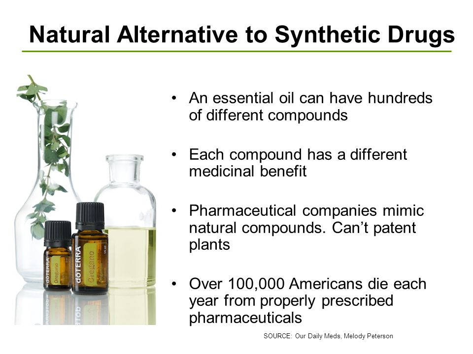 Natural Alternative to Synthetic Drugs