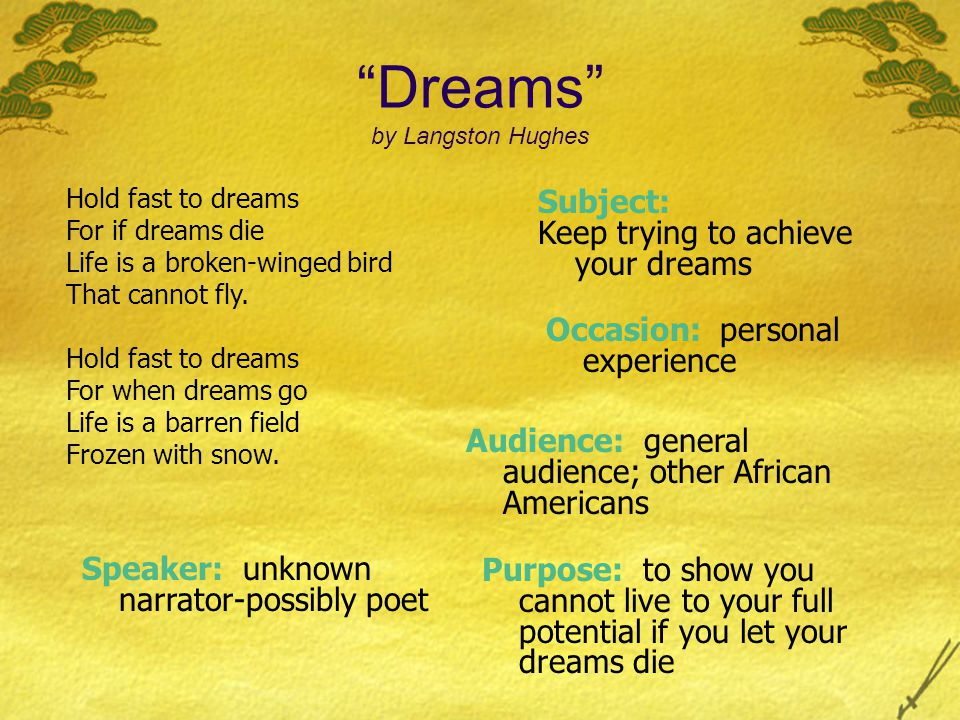 Dreams by Langston Hughes