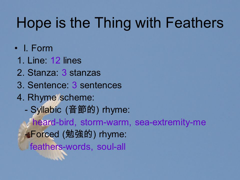 hope is the thing with feathers meaning