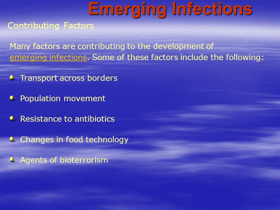 Emerging Infections Contributing Factors
