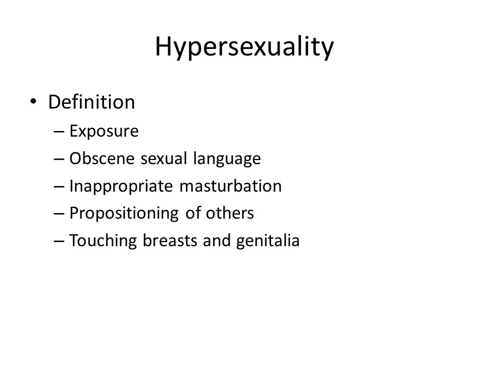 Sexually disturbed definition