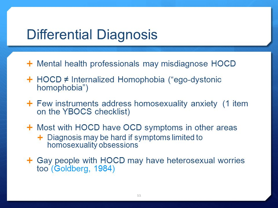 Symptoms of homosexuality