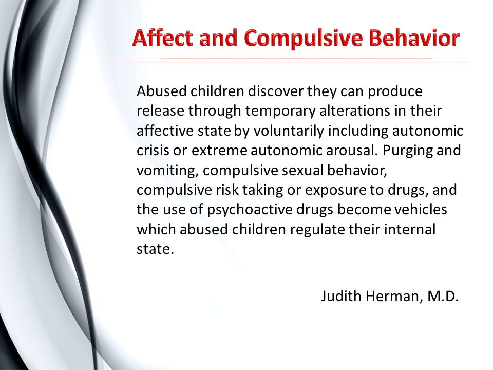 Affect and Compulsive Behavior