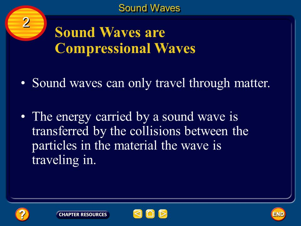 Sound Waves are Compressional Waves