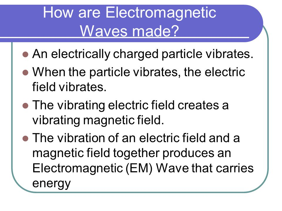 How are Electromagnetic Waves made