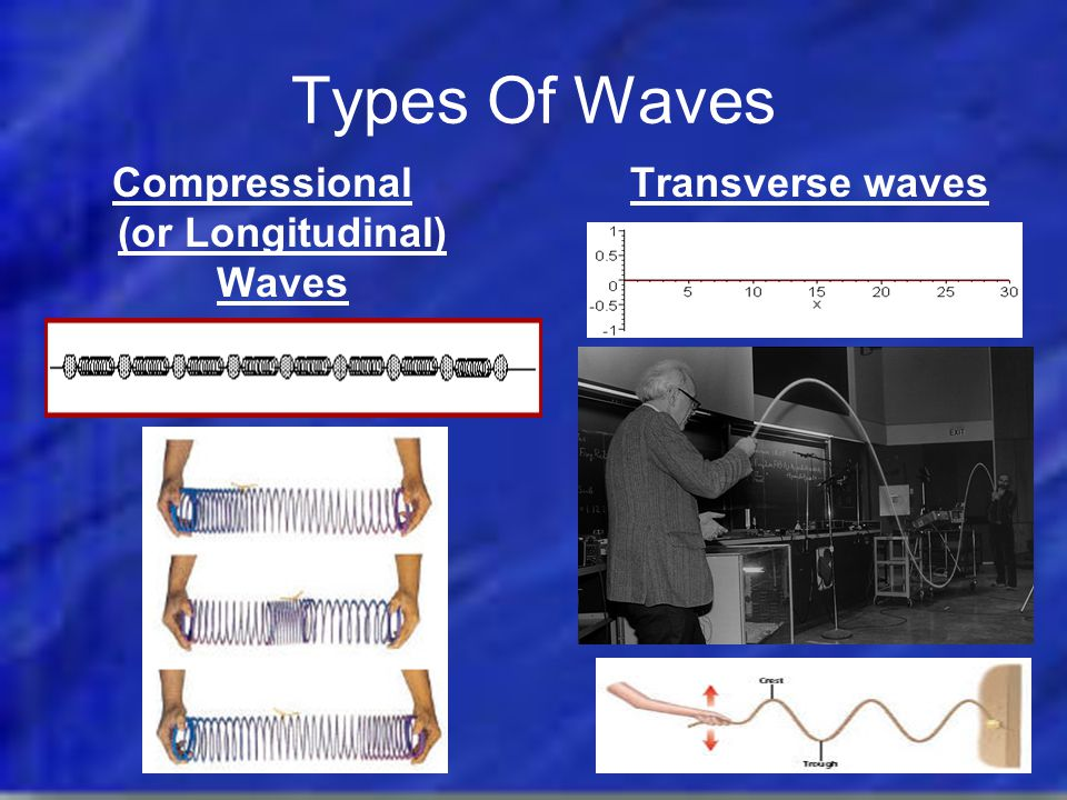 Compressional (or Longitudinal) Waves