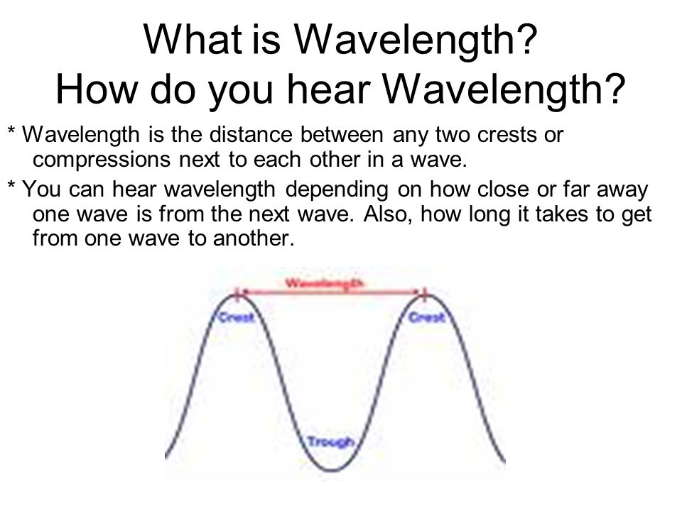 What is Wavelength How do you hear Wavelength