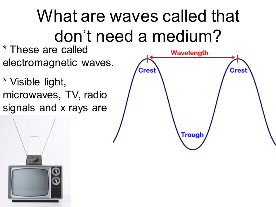 What are waves called that don't need a medium