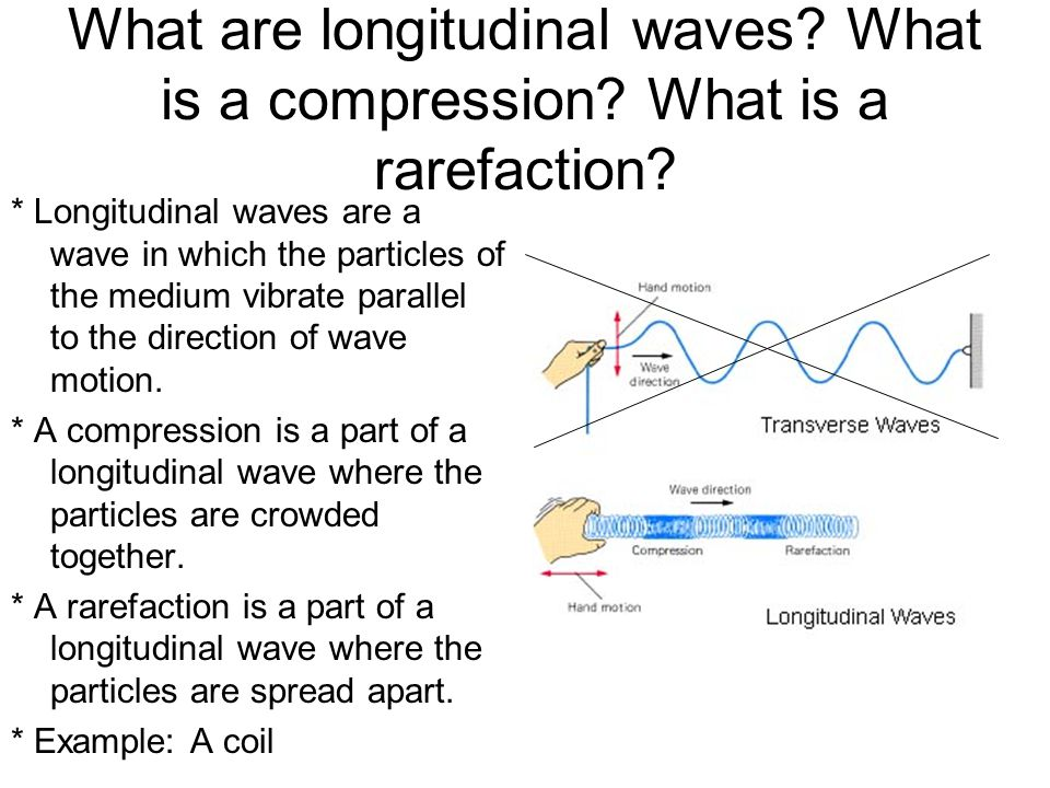 What are longitudinal waves. What is a compression