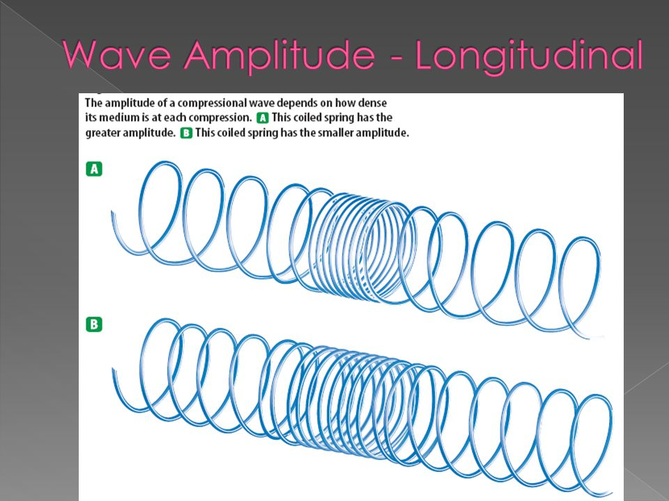 Wave Amplitude - Longitudinal