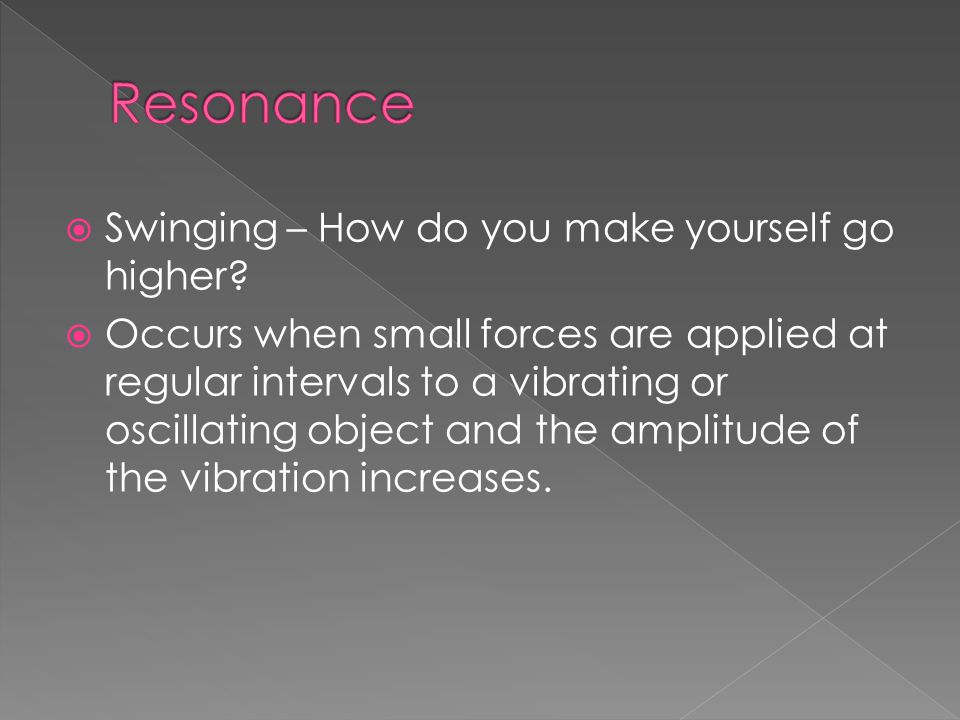 Resonance Swinging – How do you make yourself go higher