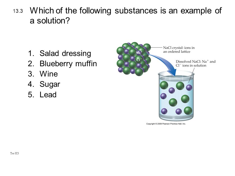 Which of the following substances is an example of a solution