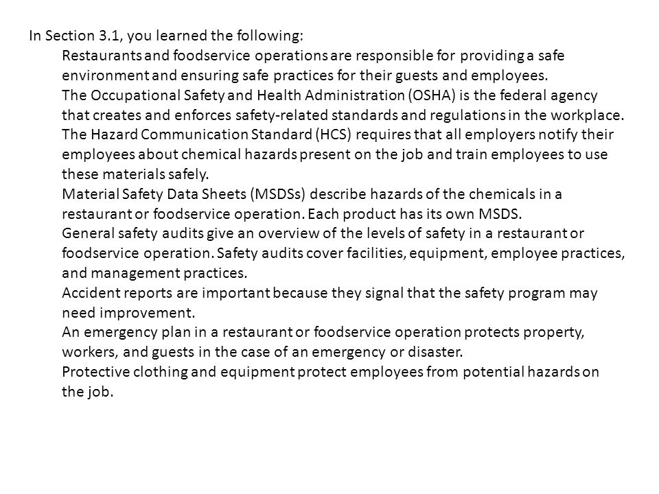 CHAPTER 3 – WORKPLACE SAFETY - ppt download