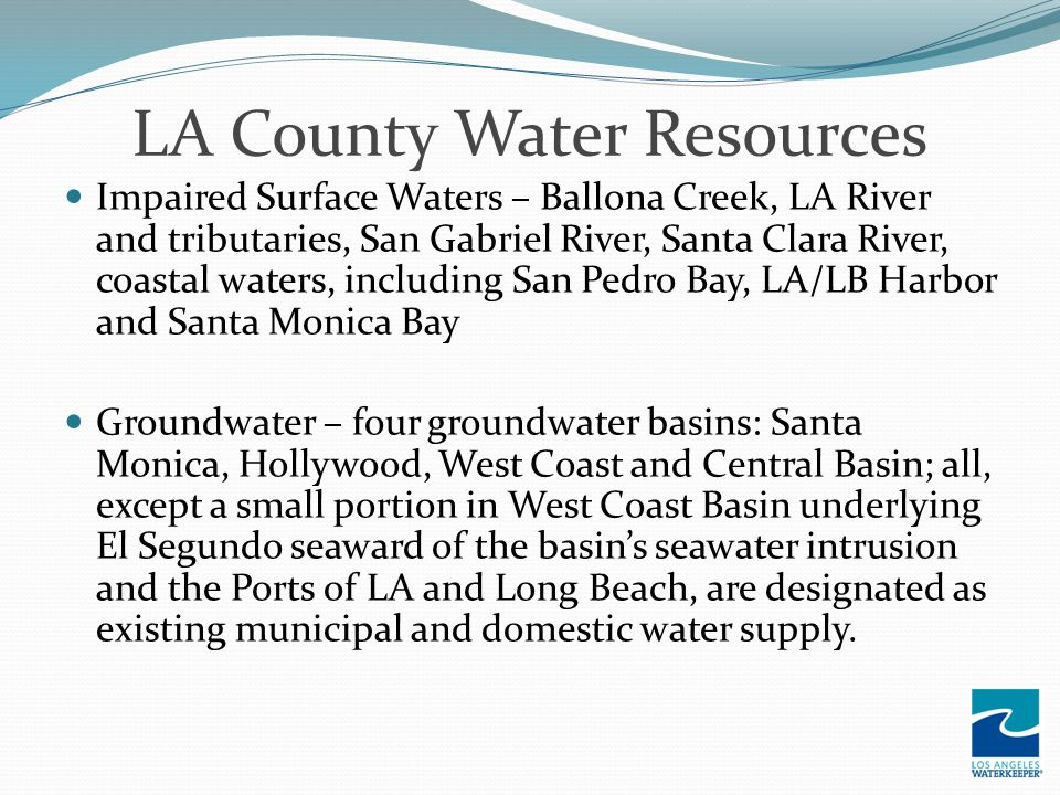LA County Water Resources