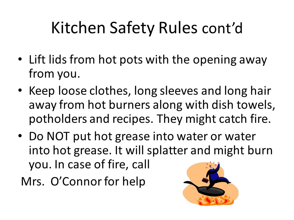 Kitchen safety rules kitchen appliances tips and review - Kitchen and dining area design crossword ...