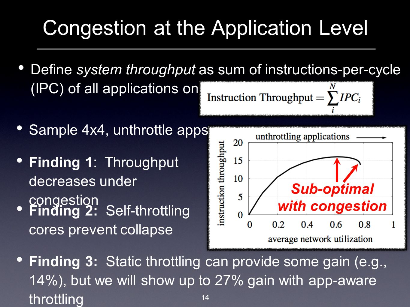 Congestion at the Application Level