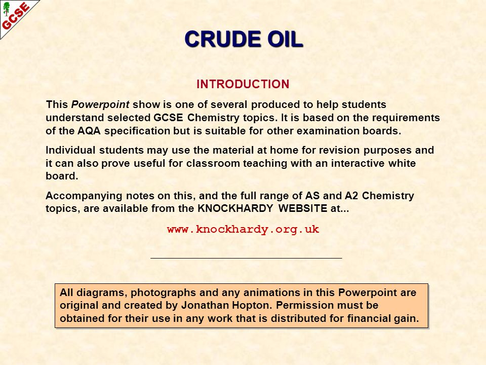 CRUDE OIL INTRODUCTION