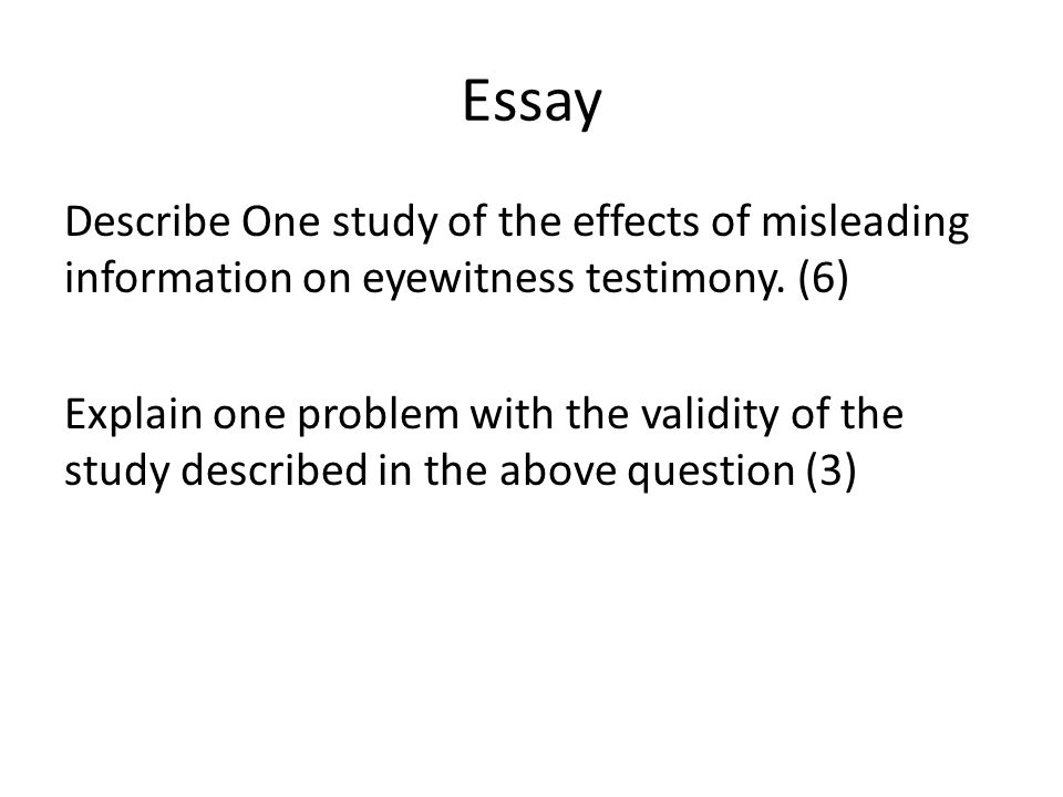 Writing A High School Essay Essay  The Effect Of Anxiety On Eyewitness Testimony Examples Of English Essays also English Class Reflection Essay Ewt  Ppt Download English Essay Books