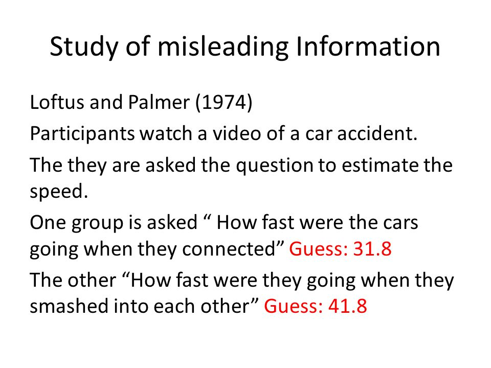 Study of misleading Information