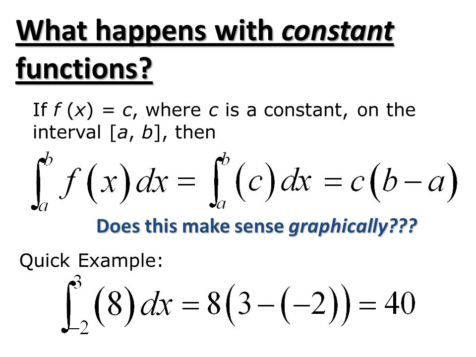 What happens with constant functions