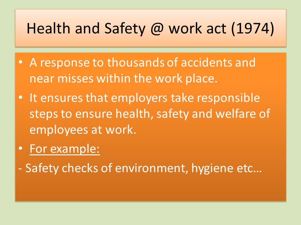 Health and work act (1974)