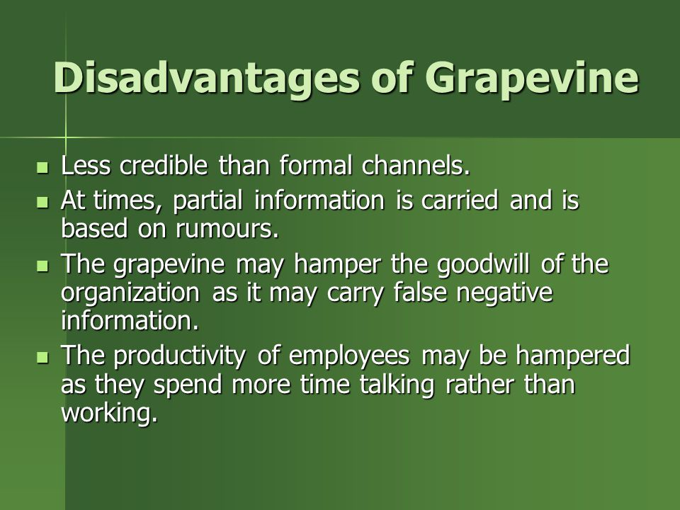 importance of grapevine communication