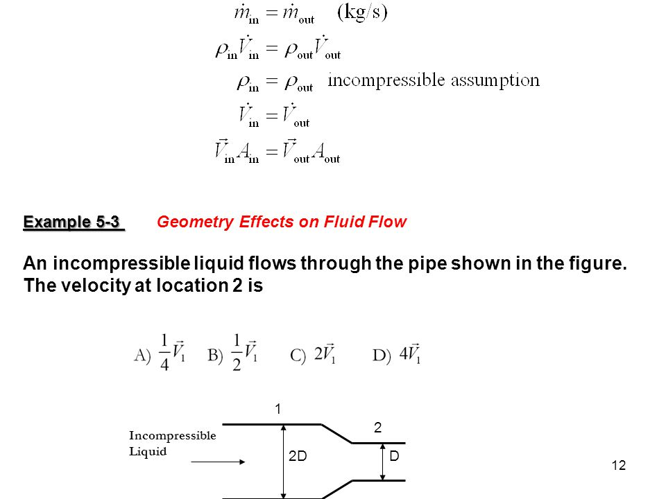 Example 5-3 Geometry Effects on Fluid Flow