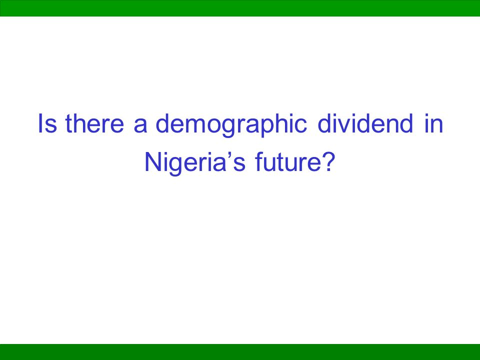Is there a demographic dividend in