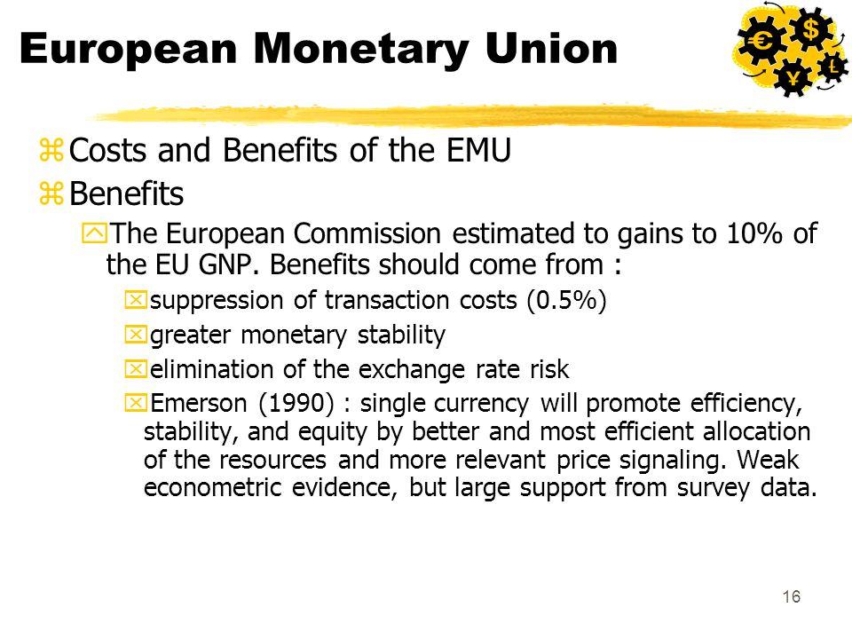 advantages of european monetary union