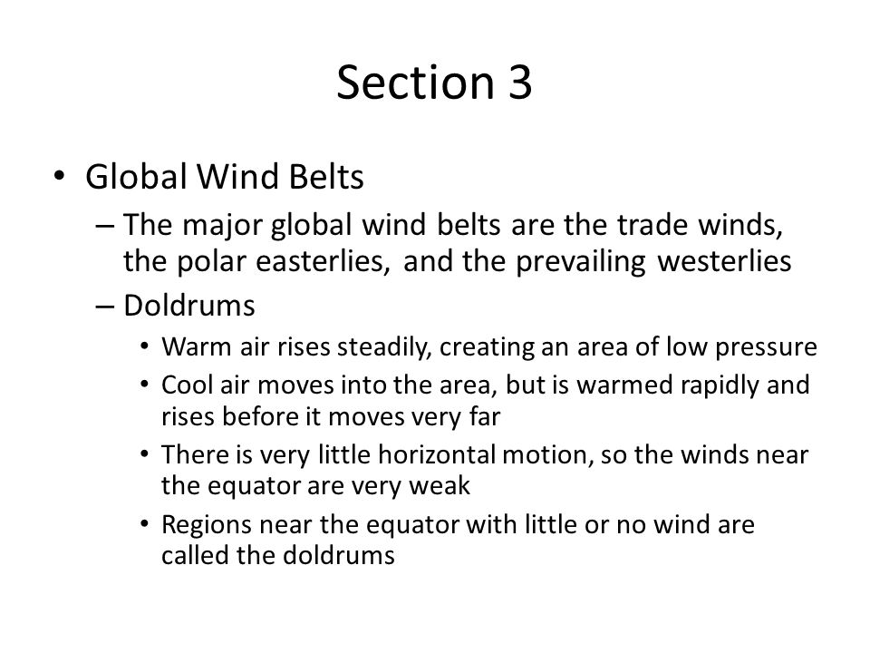 Section 3 Global Wind Belts