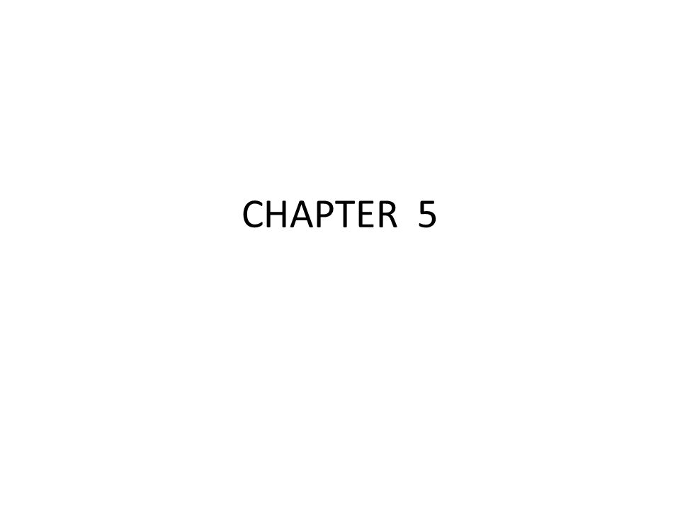 CHAPTER 5