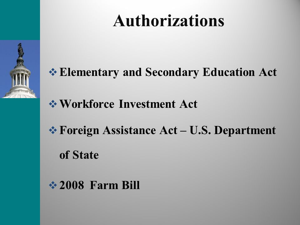 Authorizations Elementary and Secondary Education Act