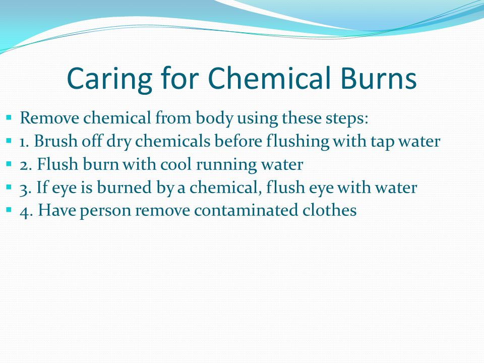 Caring for Chemical Burns