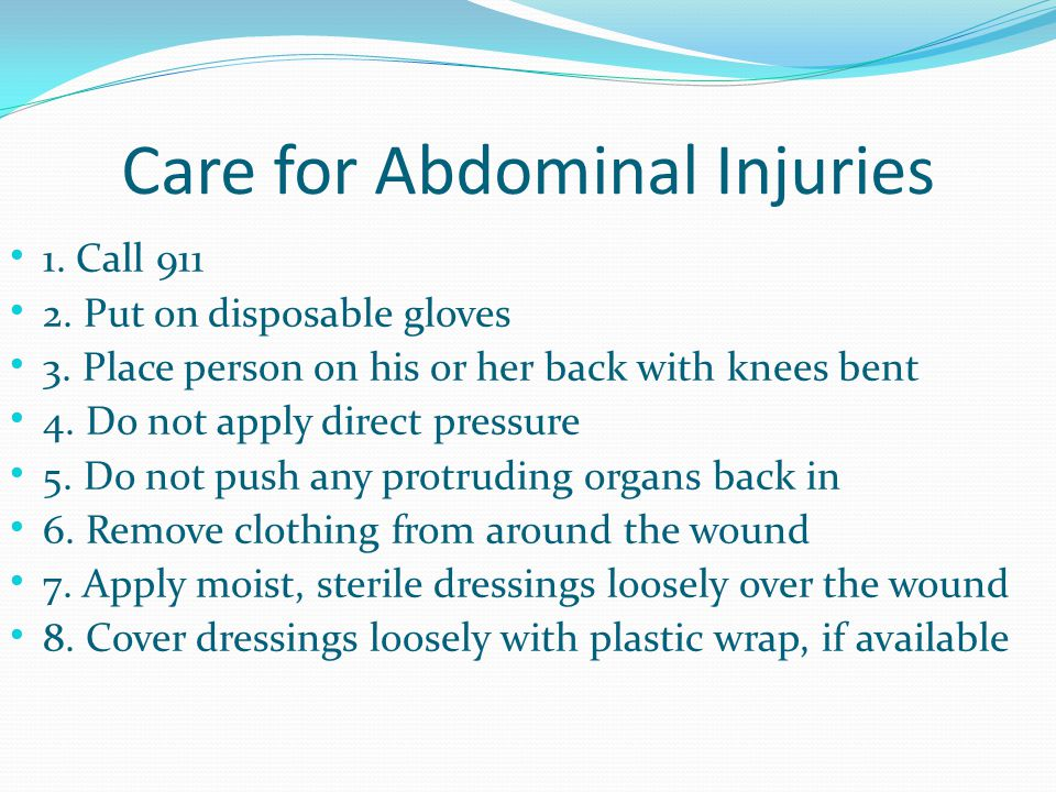 Care for Abdominal Injuries