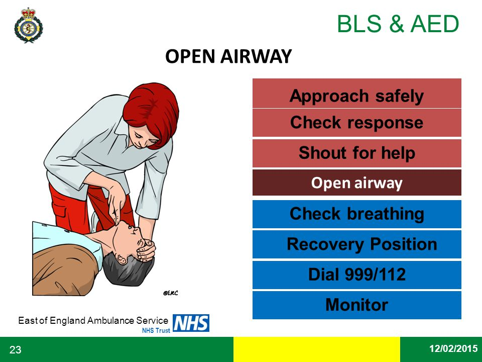 how to check if some one breathing look feel