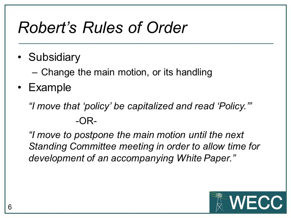 Robert\'s Rules of Order - ppt video online download