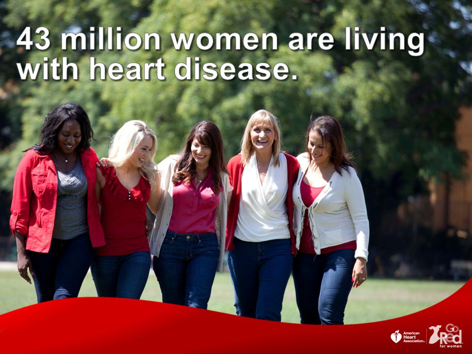 43 million women are living with heart disease.