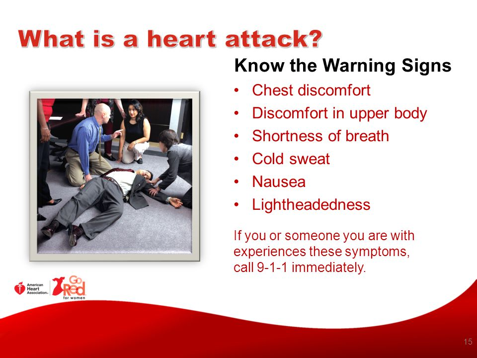What is a heart attack Know the Warning Signs Chest discomfort