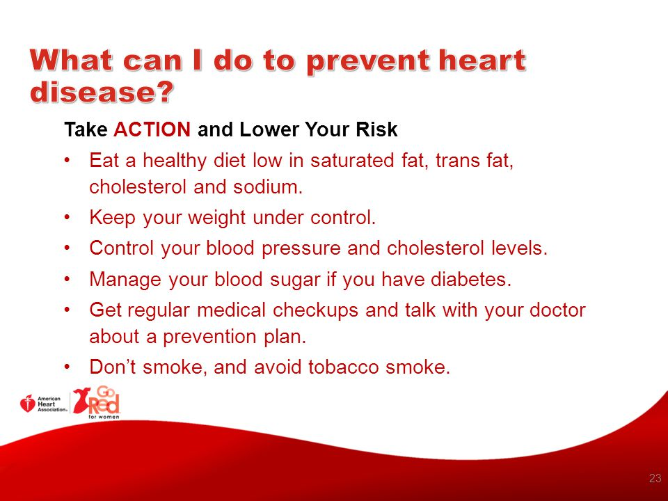 What can I do to prevent heart disease
