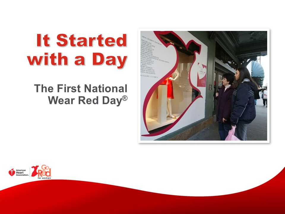 It Started with a Day The First National Wear Red Day®