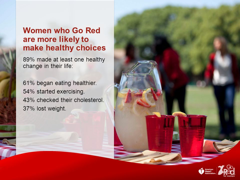 Women who Go Red are more likely to make healthy choices
